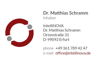 visitenkarte Intellinova Dr. Matthias Schramm